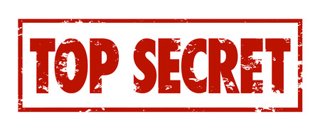 Top Secret words in red grungy stamped letters to mark protected, private information that is confidential or classified Stock Photo