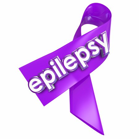 seizure: Epilepsy ribbon to raise awareness of the neurological condition or disorder causing seizures, hoping for a cure or better treatment
