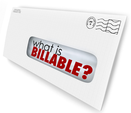 contracted: What is Billable words in an envelope for a bill or invoice for services rendered or products sent