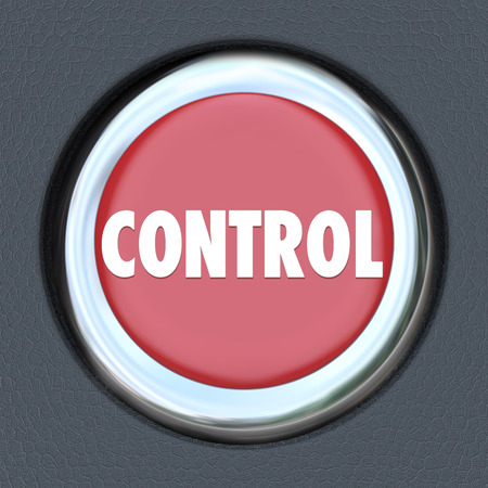 fueled: Control word on red car start or ignition button to illustrate having power