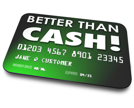 Better Than Cash words on a green credit, debit or gift card to illustrate an easy or convenient way to buy, purchase, shop or spend money