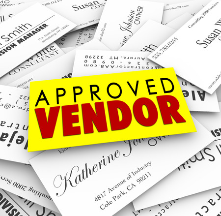approved: Approved Vendor business cards as preferred provider of service or products from the best company