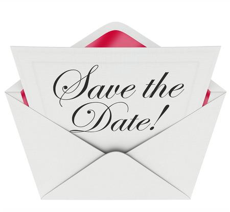 招待状やイベント、パーティーや会議を覚えて、あなたのスケジュールやプランナーの上に置くことを求めて開いた封筒にメッセージ メモに日付単