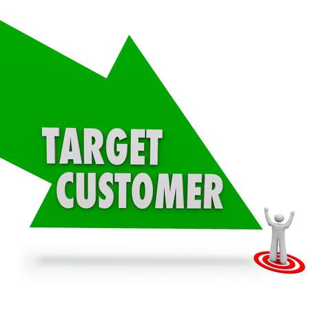 prospect: Cible fl�che � la client�le au pointage personne ou prospect pour votre soci�t� ou une entreprise