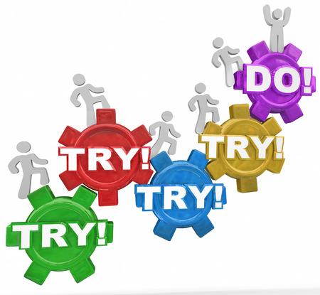 人々 は、単語かを上部に到達するまでを成功するために決定を 3 月歯車に関する単語を試す