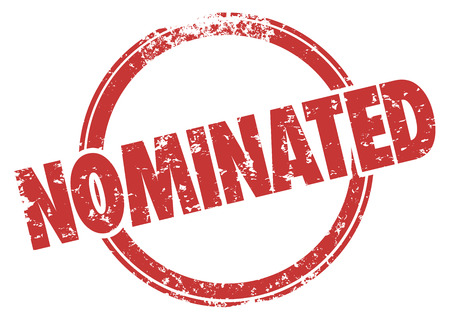 eligible: Parola Nominato in un giro timbro rosso stile grunge per illustrare una persona o scelta che � selezionato per l'inclusione, l'acquisto, votare, o di approvazione definitiva