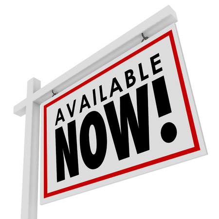 prompt: Available Now new listing real estate sign to advertise a home or house just put on the market to buy or purchase