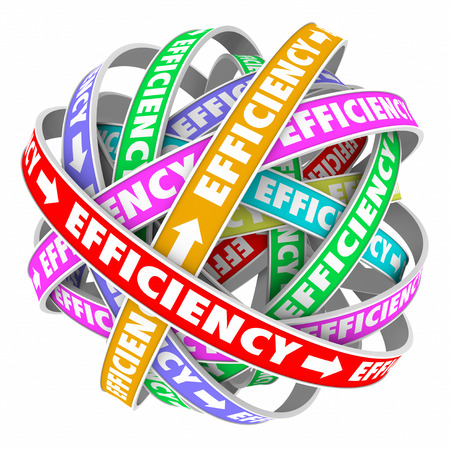 practiced: Efficiency ribbons cycle for good performance of a process, system, procedure or worker in a consistent effective pattern