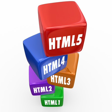 newer: HTML5 word for online website programming language as update to latest version of mobile internet development