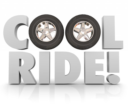 recreational vehicle: Cool Ride wheels and tires for adventure in driving or recreational adventure on road in traveling or transportation with car, truck or other vehicle Stock Photo