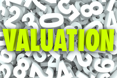 appraising: Valuation company or buisness value, worth or net price calculating revenue, assets and multiples for potential growth or income