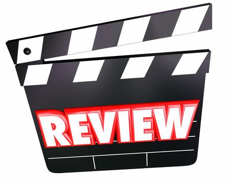 영화 평론가의 영화 평론, 의견, 평점, 견해 또는 비판에 대한 평가