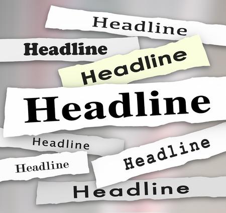 poner atencion: Escuche atentamente las palabras en un titular de peri�dico rasgado y otras alertas de noticias como tomar nota, informaci�n de vital importancia de ser un buen oyente y prestar atenci�n