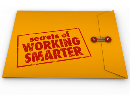 savvy: Secrets of Working Smarter how to advice in yellow classified or confidential envelope for learning productivity or efficiency life hack tips or workflow process systems