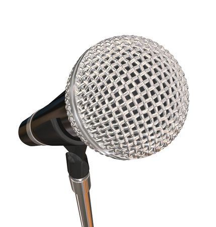 comedy: Microphone on Stand Stage Performance Singing Karaoke Stand Up Comedy