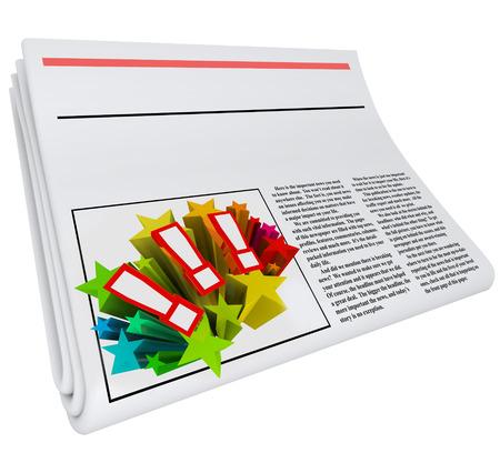 periodicos: copia espacio en blanco en el titular de un periódico para colocar sus noticias o anuncio palabras