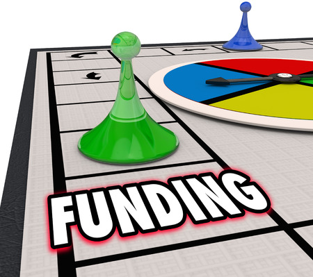 Word のボードゲームおよびビジネスまたはお金との操作をサポートするためのリソースを持つ企業のための資金を確保するため前進受賞曲の資金