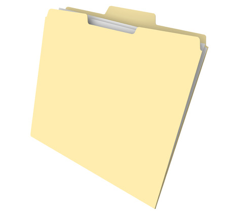 folder with documents: Blank manila folder with files or documents inside for an archive or histroy