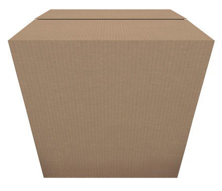 sent: Ready to Ship cardboard box to illustrate a product or goods that are in stock and prepared to be sent or delivered to a buyer or customer
