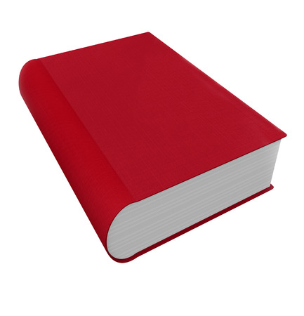 insightful: Red book cover in 3d as a novel, non-fiction, advice or self help manual Stock Photo