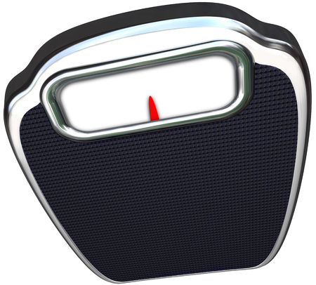 regimen: Scale with blank display for your messge or copy to illustrate losing weight, diet and exercise in health care regimen