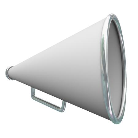 megafono: megáfono o el megáfono blanco para el intercambio de comunicación, información o comunicaciones