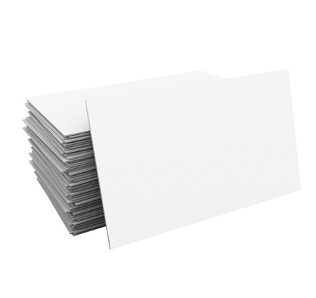 contact information: Blank business cards in a stack or pile with space for your copy, message, name and contact information Stock Photo
