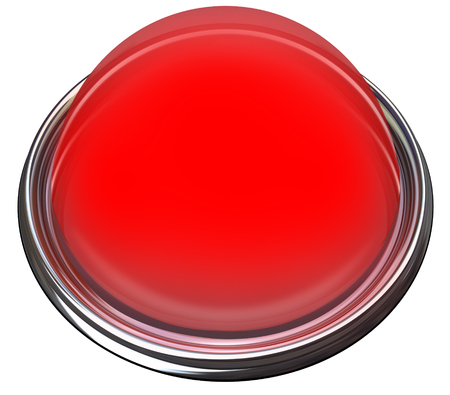 attention grabbing: Red round 3d isolated button or light to catch or grab attention with a message or advertisement