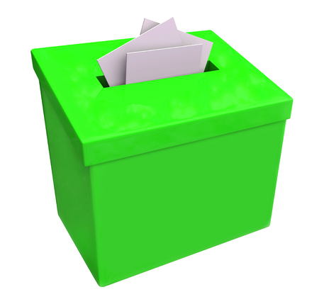 suggestion: Green suggestion box isolated for collecting ideas, comments and feedback