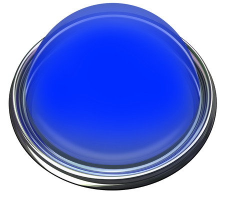 light circular: Blue round 3d isolated button or light to catch or grab attention with a message or advertisement