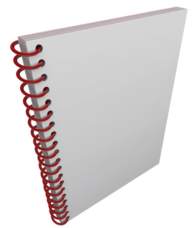 diary cover: Blank cover on spiral bound book, journal or diary cover with space for your message, text or title Stock Photo