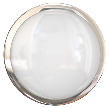 shiny button: Blank white round shiny button with blank space for your copy or text