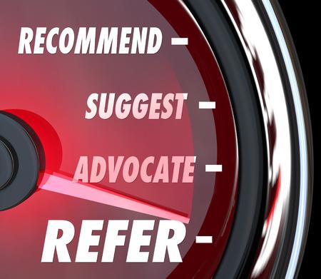 Consulte palabra sobre velocímetro con aguja carreras el pasado la recomiendan, Proponer y abogado de la captación de nuevos clientes Foto de archivo