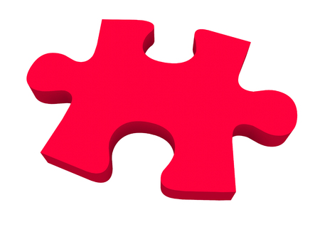 decode: A final red puzzle piece needed to finish or complete a picture or solve a problem