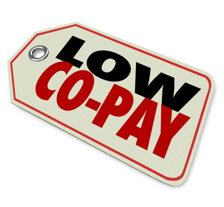 obligated: Low Co-Pay price tag on prescription medicine or health care costs for affordable insurance coverage