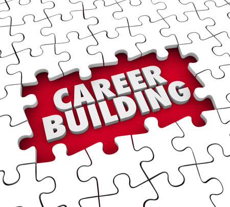 references: Career Building puzzle pieces starting a new job or position for experience, skills and references
