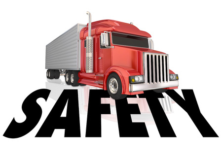 compliant: Safety word to illustrate safe driving and secure, accident free transportation Stock Photo