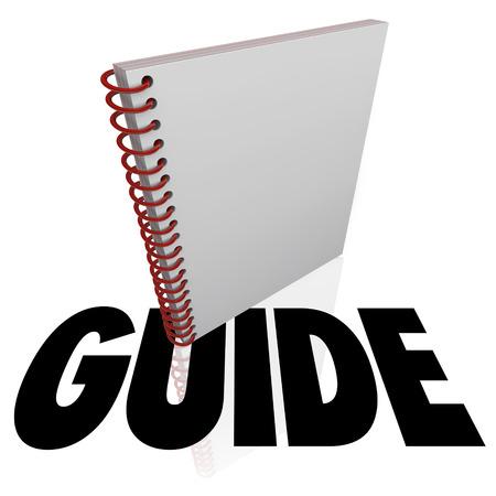 Gids woord in het kader van een handleiding voor het leren van een routebeschrijving of stappen naar een baan, taak of project