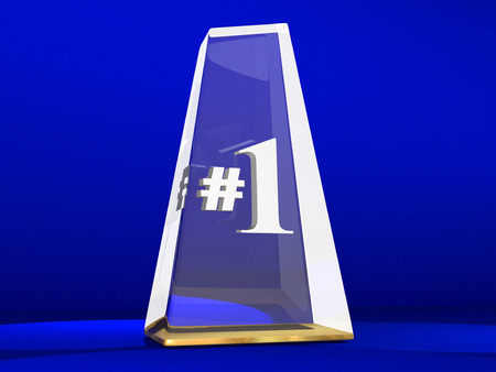 succeeding: Number One 1 Award Trophy Top Prize Animation
