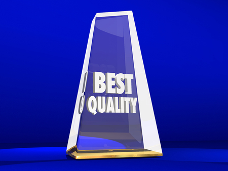 best quality: Best Quality Award Trophy Top Reputation Honor