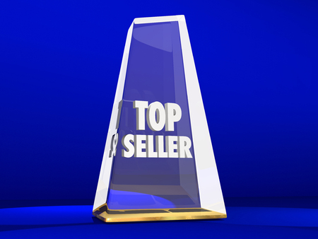 succeeding: Top Seller Most Popular Choice Sales Demand Award Stock Photo