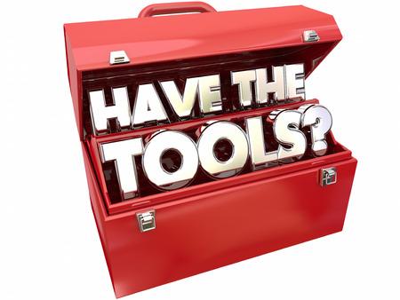 Hanno gli strumenti Domanda Abilità Competenza Toolbox Necessario