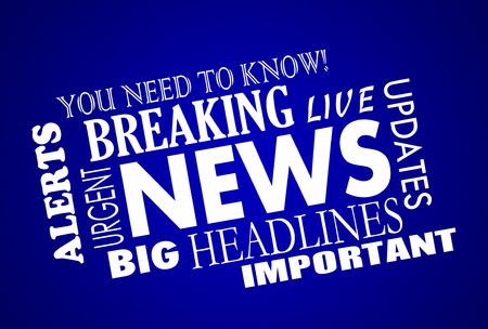 Breaking News Headlines Word Collage