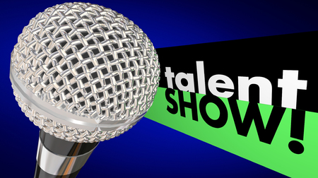 Talent Show microfoon Sing Perform Win Concurrentie Stockfoto