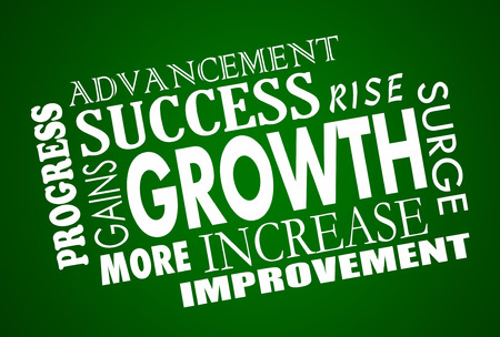 success word: Growth Increase Improvement Success Word Collage Animation Stock Photo