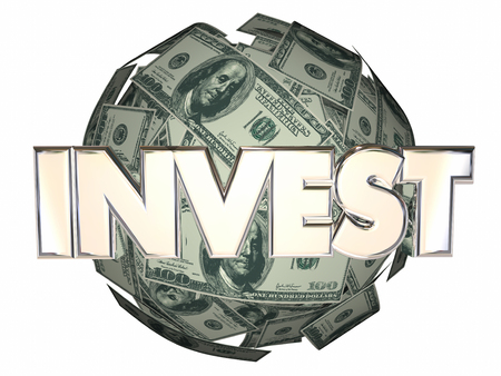 money sphere: Invest Money Cash Stock Market Wall Street Dollar Sphere