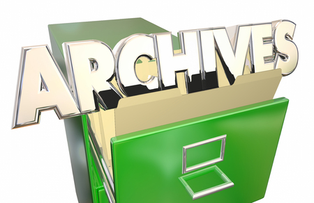 cataloged: Archives Old Records Data File Folders Cabinet History