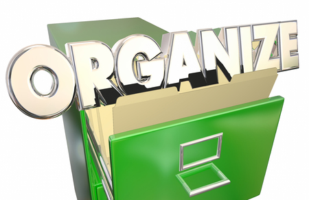 documenting: Organize Word File Cabinet Folders Keep Information