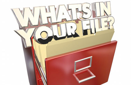 personal record: Whats In Your File Personal Information Data Private