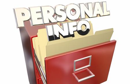 documenting: Personal Info File Folder Cabinet Sensitive Secret Private Data